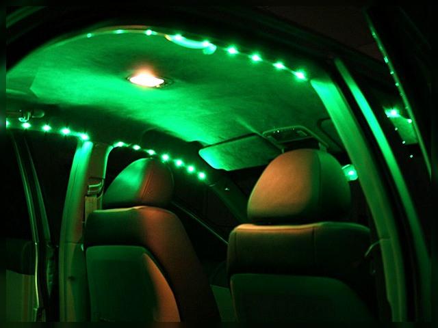 Установка светодиодной ленты на потолок авто
