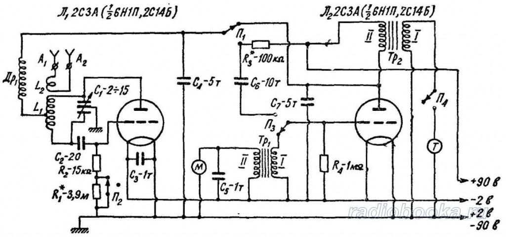 схемы на радиолампах и
