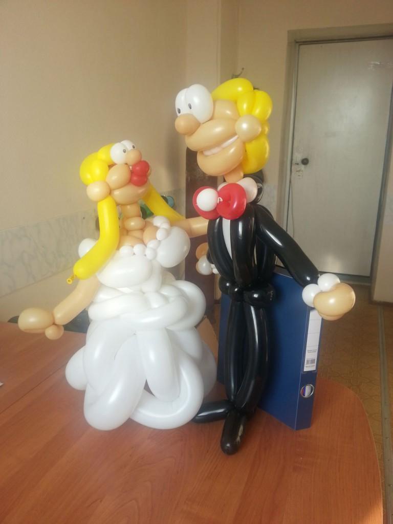 Фигурки из шаров для свадьбы своими руками